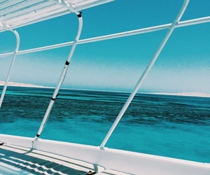 aesthetic, blue, and boat image