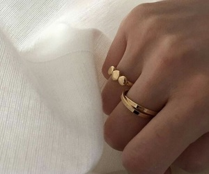 grunge, hand, and ring image