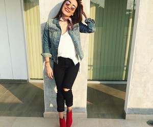 outfit, red, and cute image