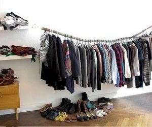 clothes storage and clothing rack decoration image