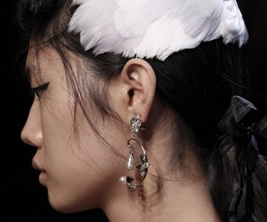 aesthetic, earrings, and fashion image