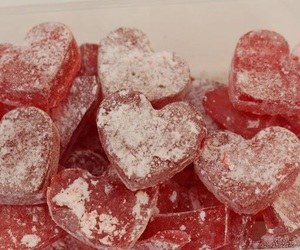 candy, desserts, and hearts image