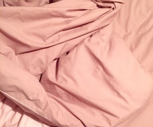 bedspread, blankets, and peach image