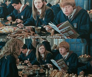 food, hermione, and ron image
