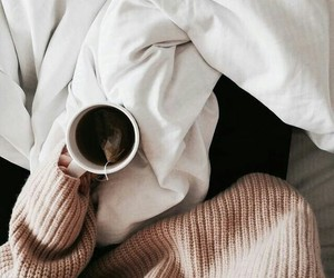 coffee, sweater, and tea image