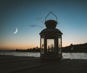 candle, moon, and lantern image