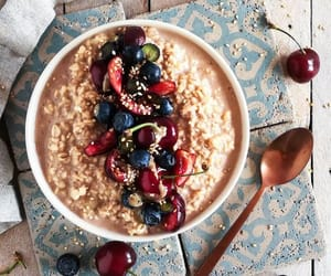 breakfast, fitness, and oatmeal image