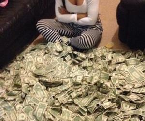 money, cardi b, and dollar image