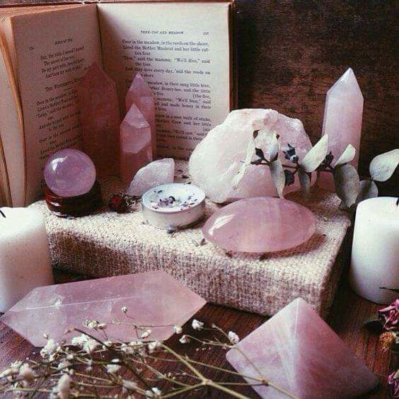 crystal, pink, and witch image