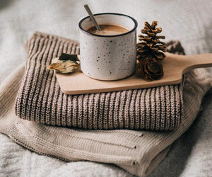 christmas, coffee, and sweater image