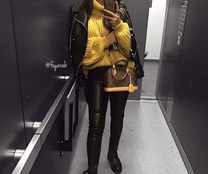 outfit, bag, and boots image