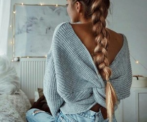adorable, braid, and hair image