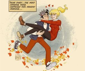 bughead, comics, and couple image