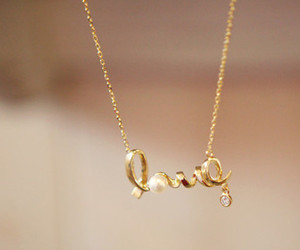 love, necklace, and jewelry image