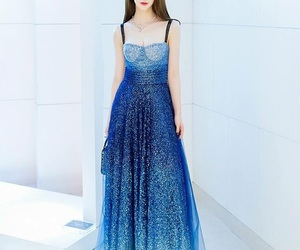blue, crystal, and dress image