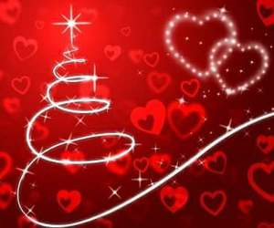 heart, merry chrismas, and red image