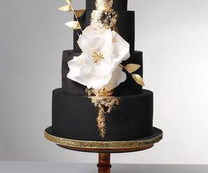 black, bridal, and cake image
