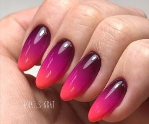 gradient, nail design, and nail art image