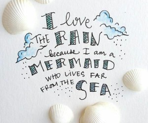 mermaid, quotes, and sea image