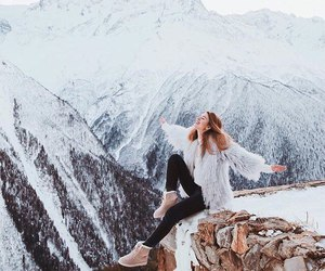 travel, winter, and mountains image