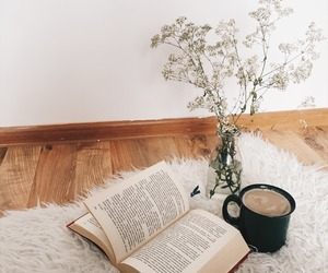 book, reading, and coffee image