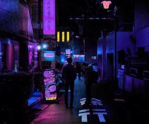 purple, city, and light image