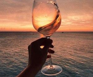 sunset, wine, and beautiful image