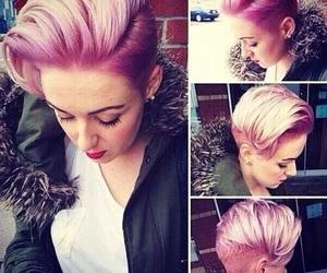 pink hair, short hair, and pixie cut image