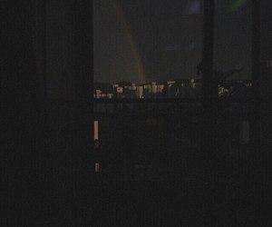 rainbow, aesthetic, and dark image