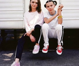 millie bobby brown, game of thrones, and maisie williams image