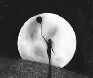 black, drawing, and moon image