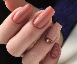 nail art, Nude, and style image
