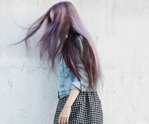 alternative, grunge, and purple hair image