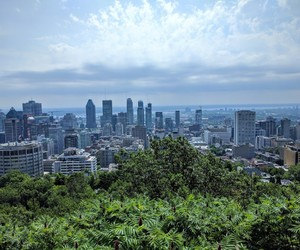 blue, montreal, and skycrapers image