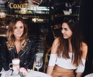 blonde, brunette, and coffee image