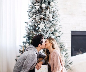 couple, christmas, and love image