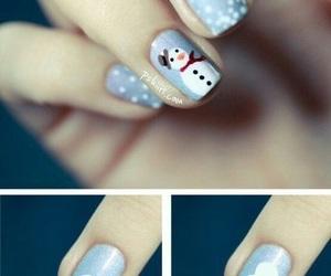 christmas, nails, and girl image