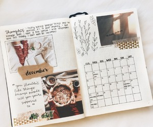 december, journal, and winter image
