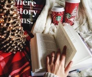 christmas, book, and winter image