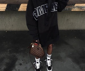 vans, style, and black image