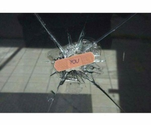 broken, glass, and you image