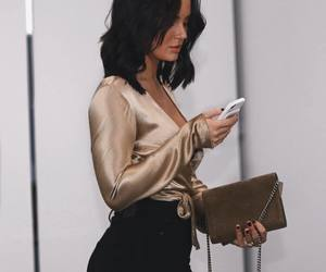 fashion, silk, and outfit image