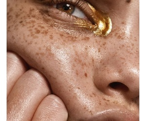gold, aesthetic, and freckles image