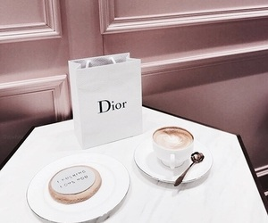 drink, coffee, and dior image