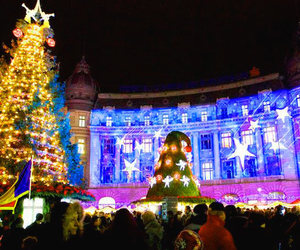 bucharest, christmas, and december image