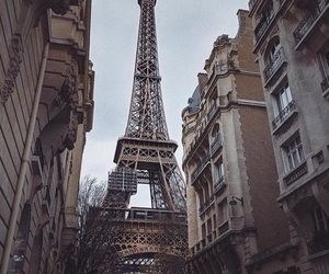 building, eiffeltower, and france image