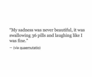 anxiety, qoutes, and sadness image