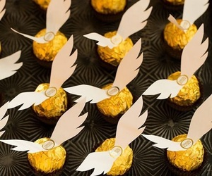 harry potter, chocolate, and party image