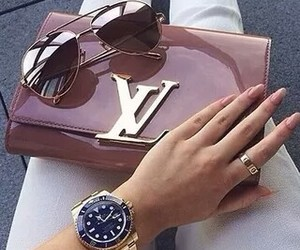 watch, Louis Vuitton, and nails image