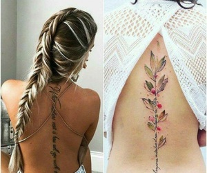 flower tattoo, flowers, and tattoo image